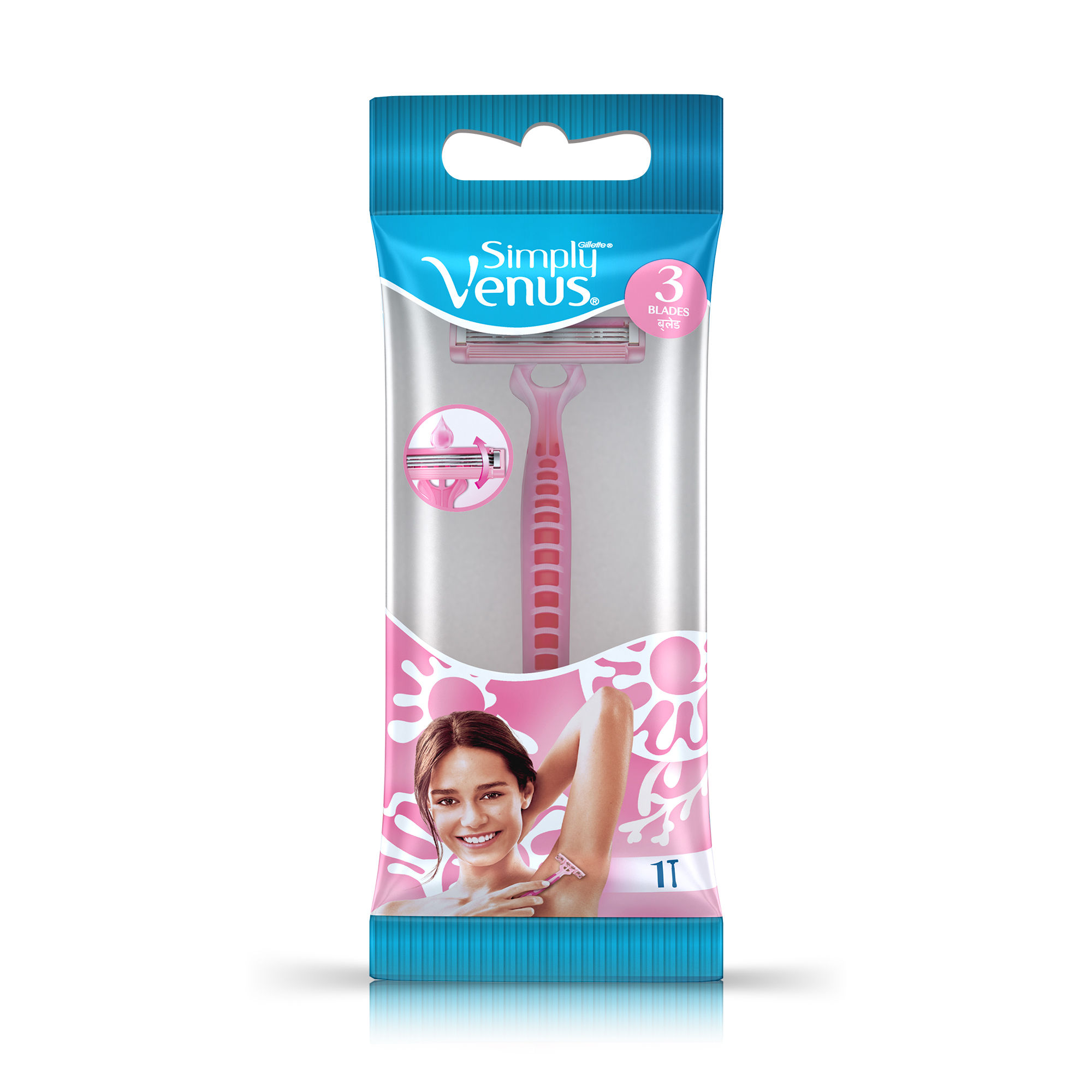 Gillette Venus 3 Simply Razor For Women Buy Gillette Venus 3 Simply Razor For Women Online At Best Price In India Nykaa