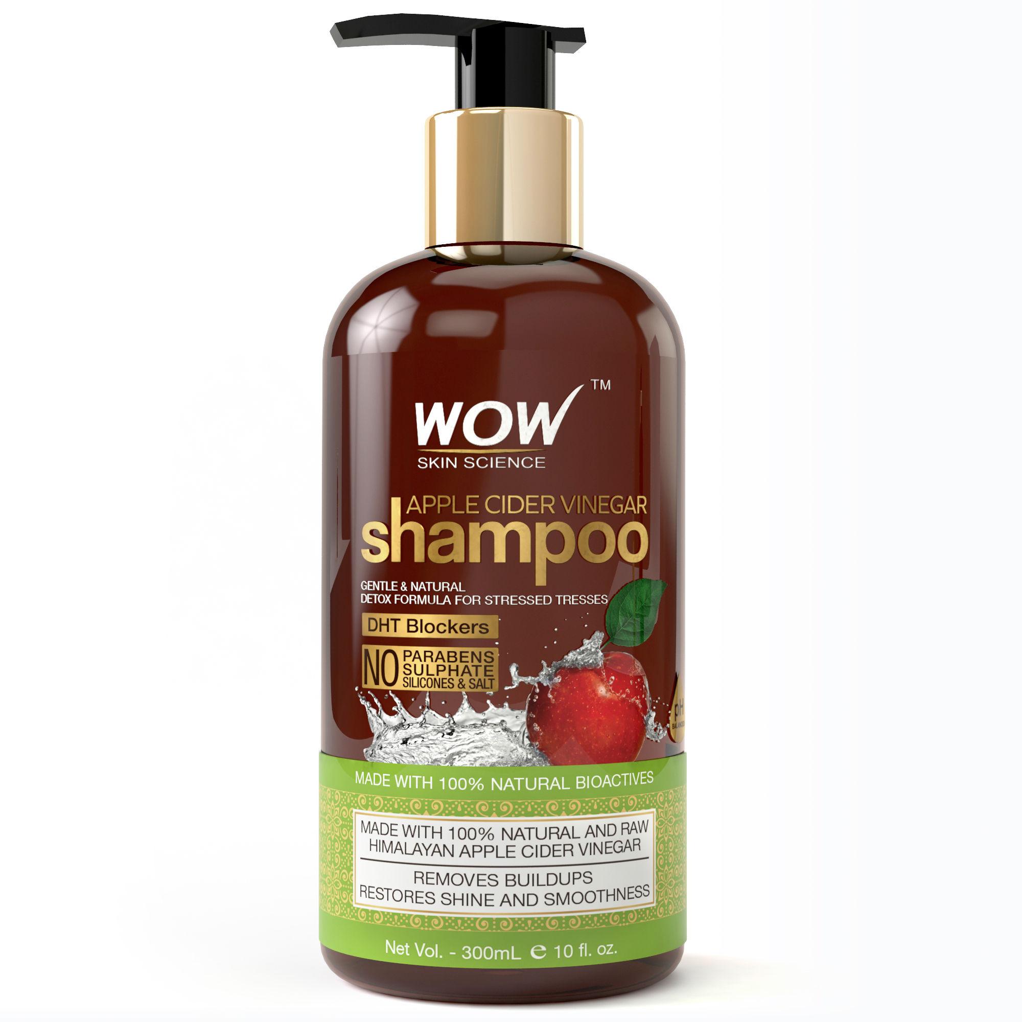 WOW Skin Science Apple Cider Vinegar Shampoo No Sulphate Paraben Free