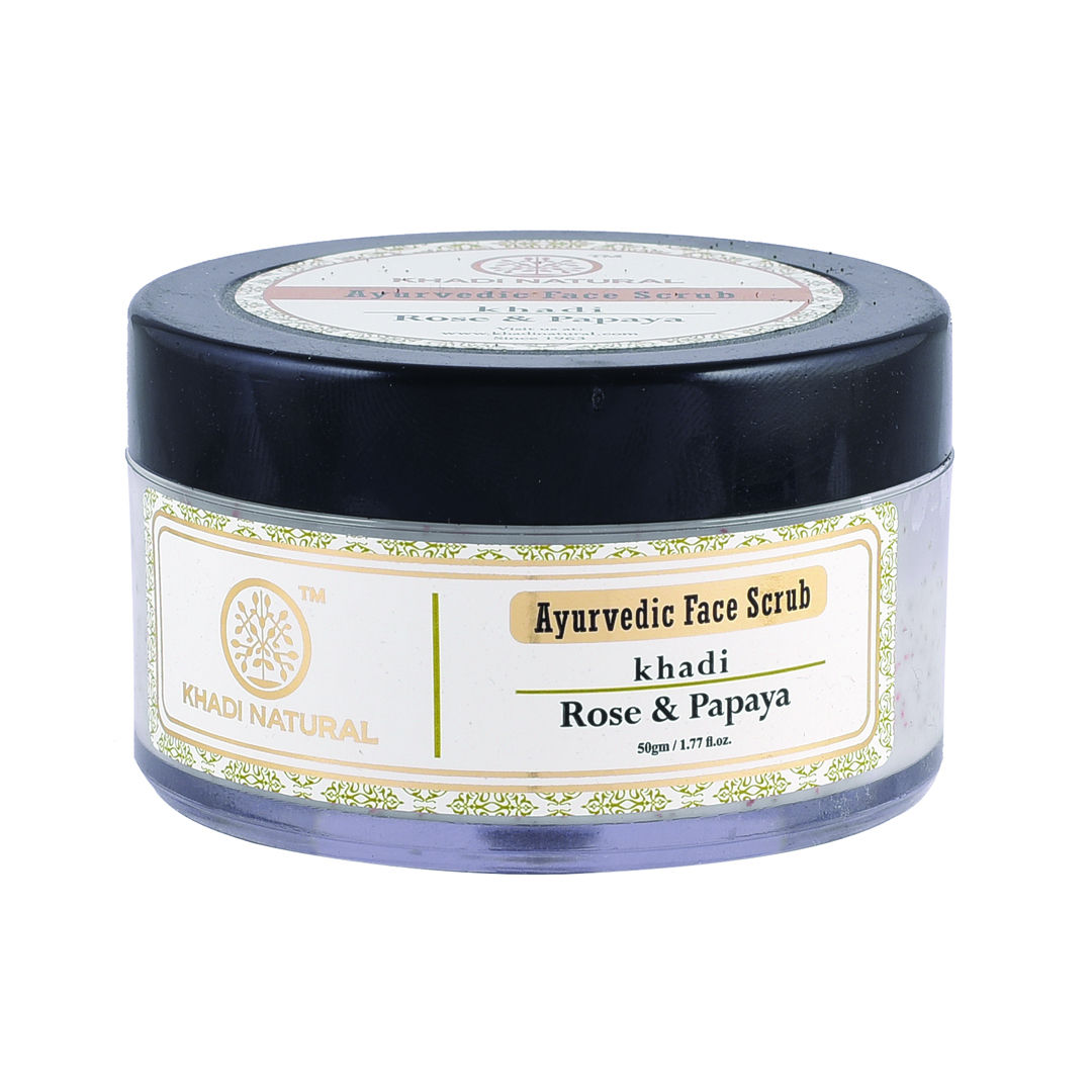 Khadi Natural Face Scrub Rose & Papaya