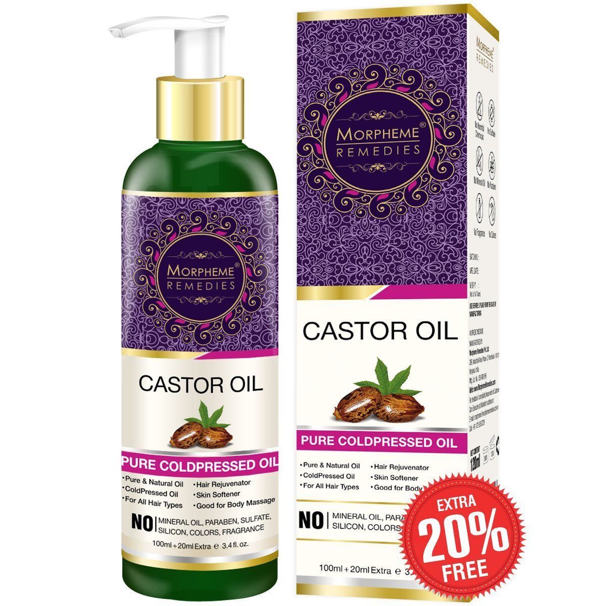 7a27447f9 Morpheme Remedies Pure Coldpressed Castor Oil at Nykaa.com