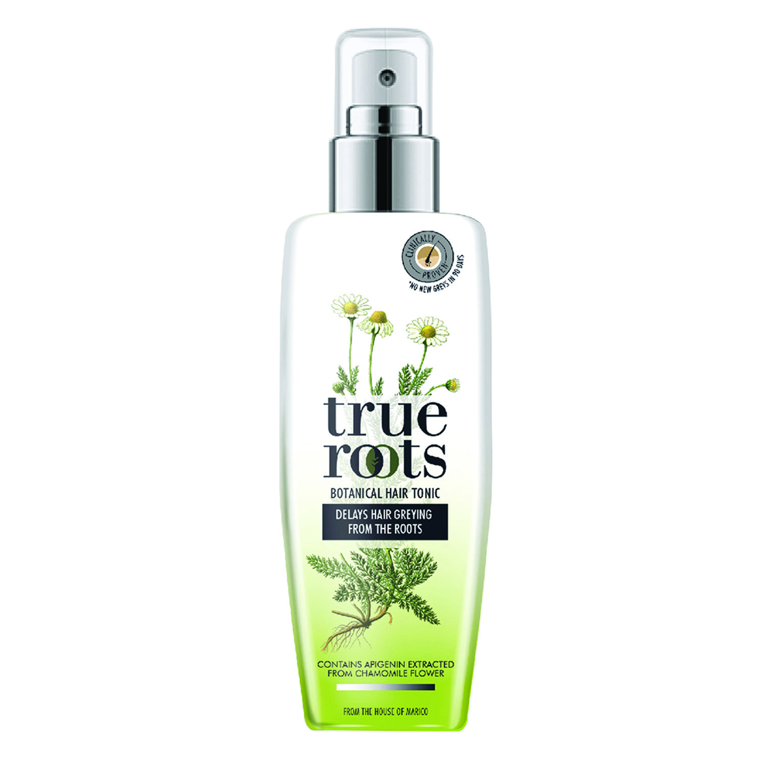 True Roots Botanical Hair Tonic to Delay Hair Greying