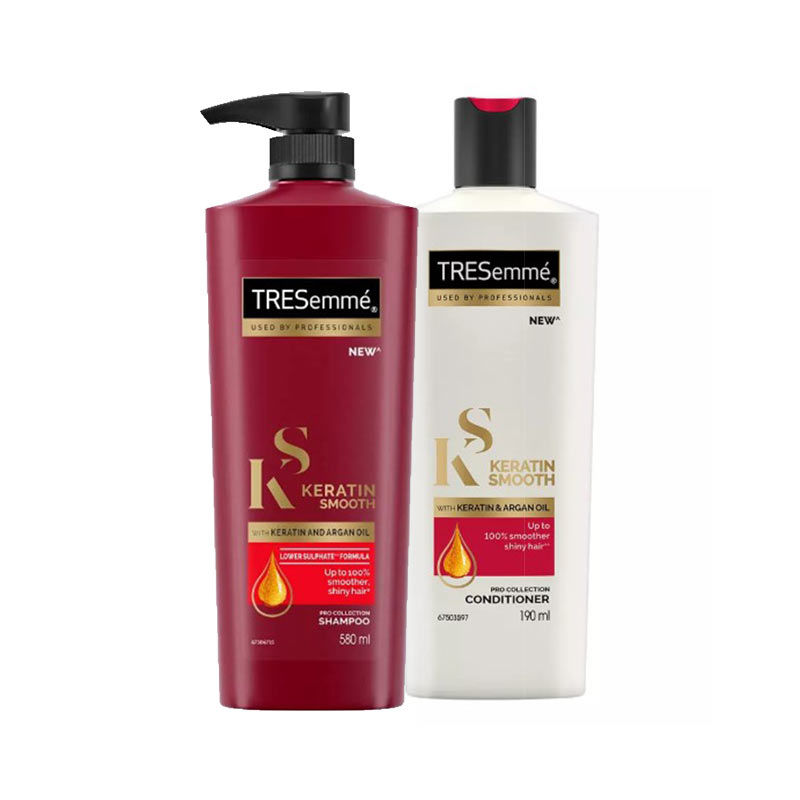 6c3fa173ab3460 Tresemme Keratin Smooth With Argan Oil Shampoo + Conditioner Combo at  Nykaa.com