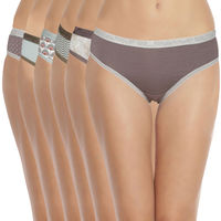 Soie Women's Brief Panty Pack Of 6 - Multicolor
