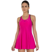 Speedo Female Swimwear Racerback Swimdress With Boyleg - Pink