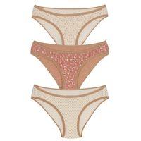 Amante Three Piece Bikini Panty Pack With Thin Elastic Waist Band 1