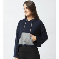 Mystere Paris Stylish Winter Hoodie Sweatshirt - Blue