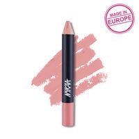 Nykaa Pout Perfect Lip & Cheek Creamy Matte Crayon Lipstick - Bare It Babydoll! 12