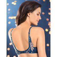 Amante Lace Bloom Butterfly Wings Bra - Blue