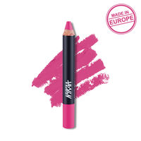 Nykaa Pout Perfect Lip & Cheek Velvet Matte Crayon Lipstick - Kiss-n-Tell Pink 02