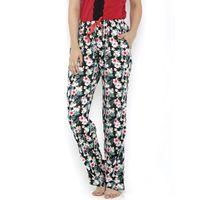 Heart 2 Heart Hibiscus Print Pajamas - Black