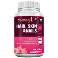 MuscleXP Biotin Hair, Skin & Nails Complete MultiVitamin - 60 Tablets