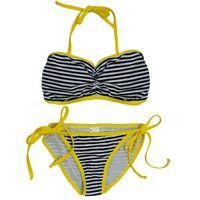 Nidhi Munim Monochrome Stripes Color Block Bikini Set - Multi-Color