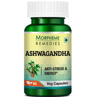 Morpheme Remedies Ashwagandha (Withania somnifera) - Anti-Stress & Energy - 500mg Extract