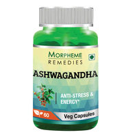 Morpheme Remedies Ashwagandha (Withania somnifera) - Anti-Stress & Energy - 500mg Extract