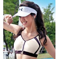 Enamor SB14 High Impact Sports Bra Removable Pads , Wirefree & Front Zipper - New Champaign