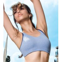 Enamor SB16 Low Impact Cotton Sports Bra - Non-Padded & Wirefree - Blue