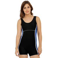 Heart 2 Heart Black & Blue Romper Style Swimsuit