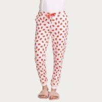 Zivame Tropical Fizz Sleep Pyjama - White N Print