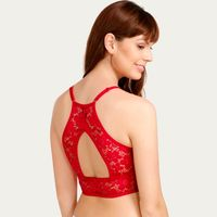 Zivame Made To Layer Flat Lace Bralette - Red