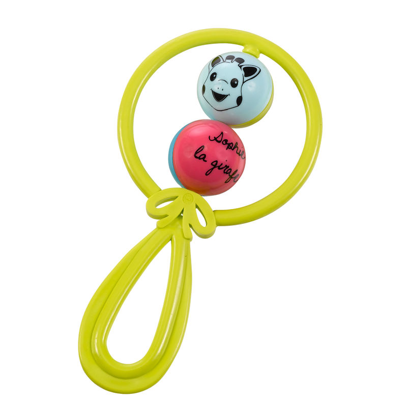 Sophie La Girafe Two Balls Rattle Toy - Green