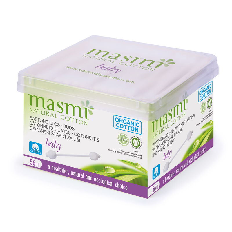 Masmi Organic Cotton Baby Safety Buds - 56 Sticks
