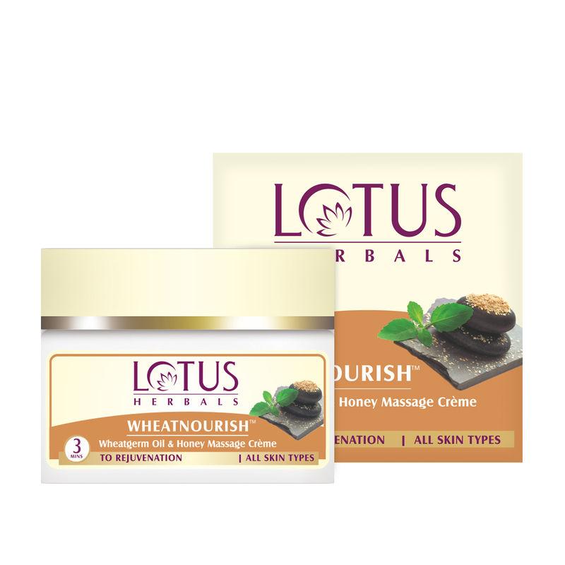 Lotus Herbal Wheatnourish Wheatgerm Oil & Honey Massage Crème
