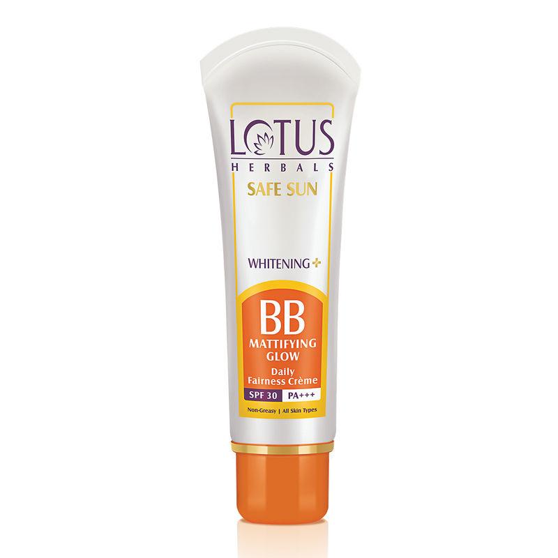 Lotus Herbals Safe Sun Whitening + BB Mattifying Glow Fairness Creme SPF-30 PA+++