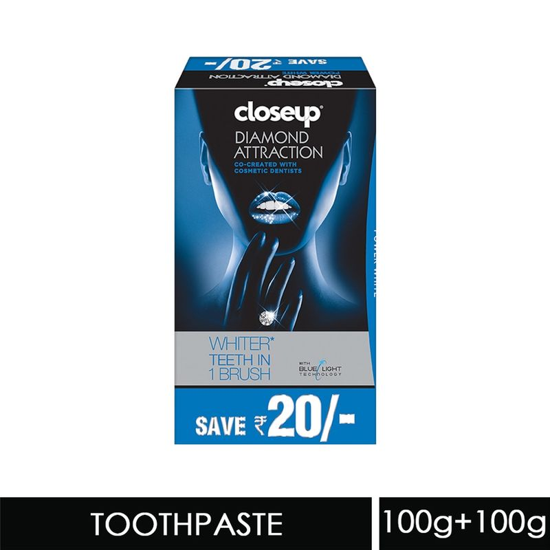 Closeup Diamond Attraction Power White Gel Toothpaste Value Pack Of 2