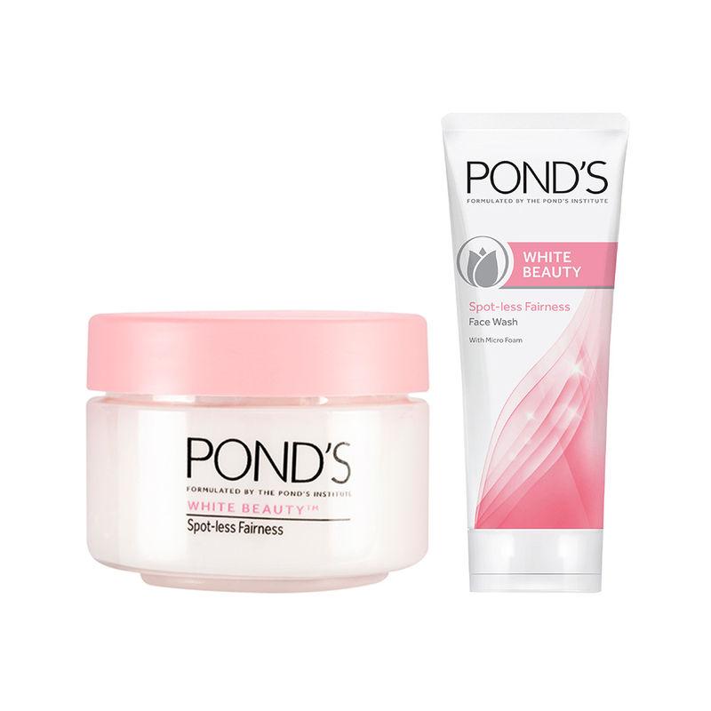 Ponds White Beauty Daily Spotless SPF 20 PA Lightening Fairness Cream + White Beauty Facewash Free