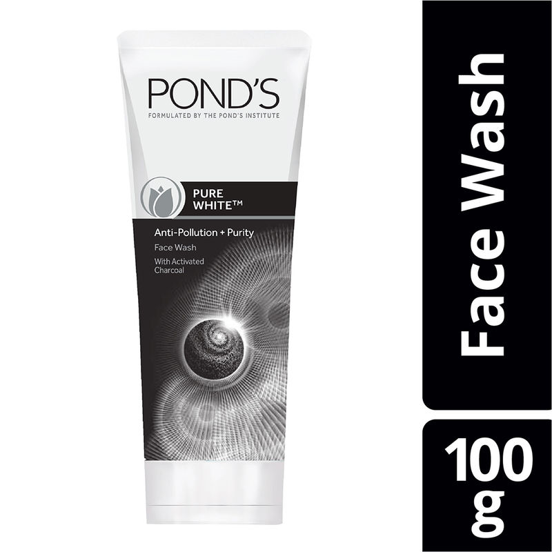 Ponds Pure White Anti Pollution With Activated Charcoal Face Wash