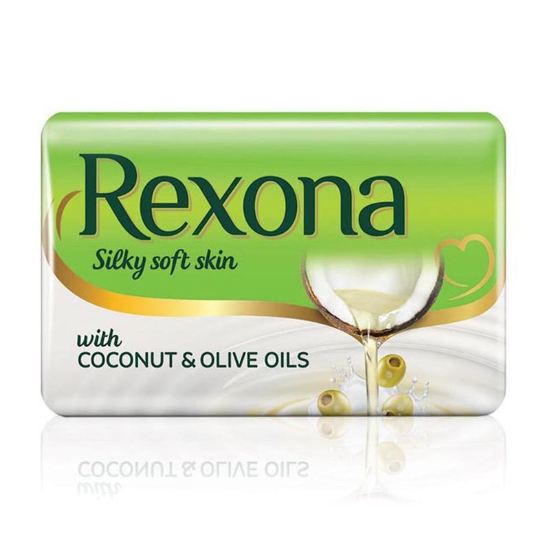 Rexona Silky Soft Skin Coconut & Olive Oil Soap Bar Pack Of 4