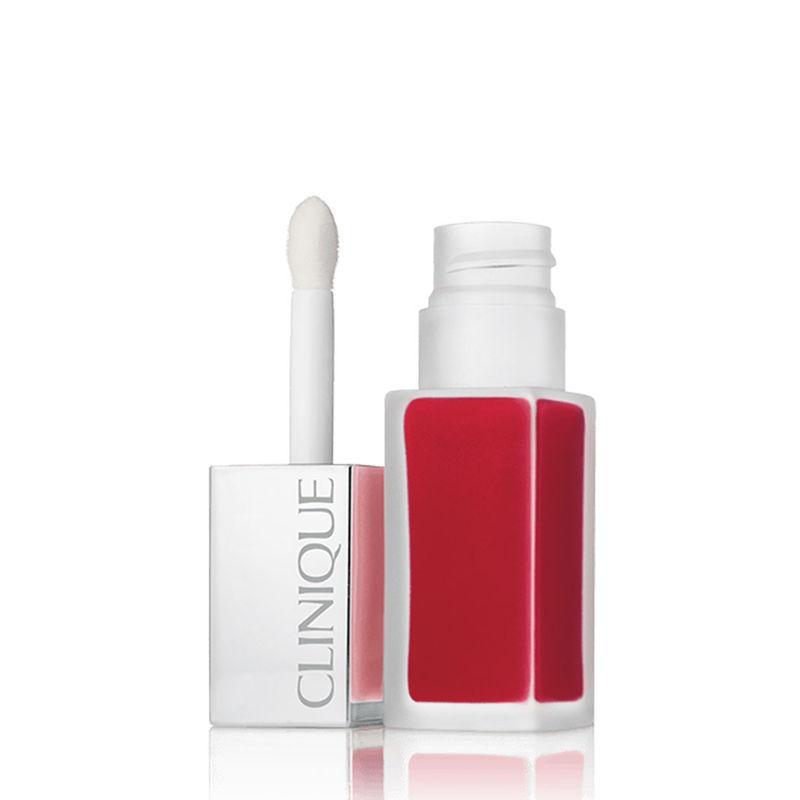 Clinique Pop Liquid Matte Lip Colour + Primer-Flame Pop