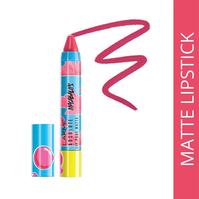 Lakme Absolute Lip Pouts Matte Masaba Lip Color - Hot Pink Queen