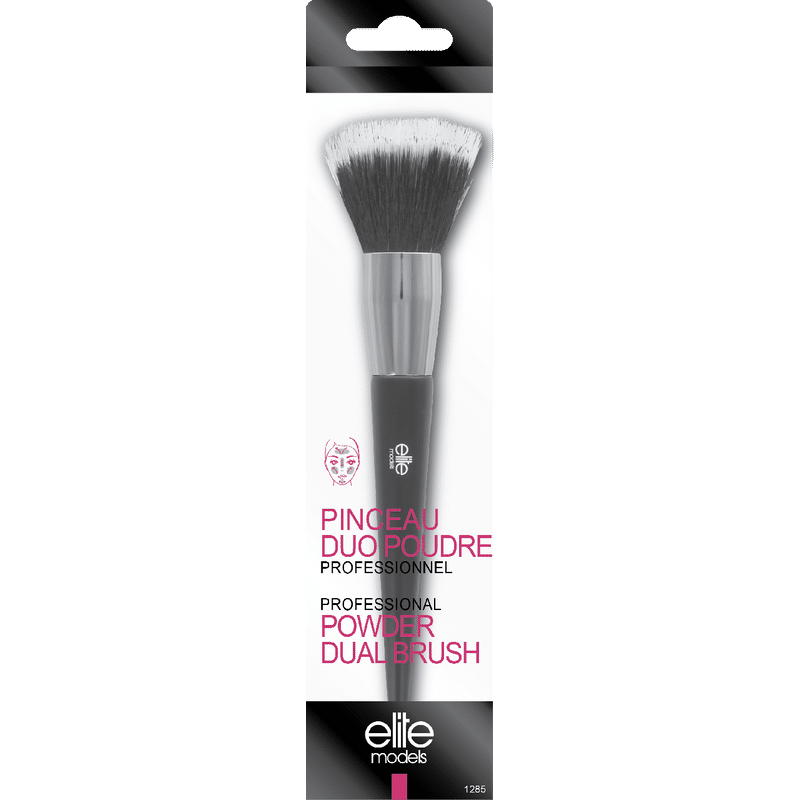 Elite Models (France) Professional Makeup Dual Powder Brush Applicator