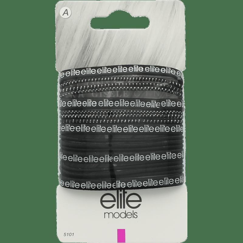 Elite Models (France) Fashion Ponytail Hair Rubber Band (16 Pc Set) - Black