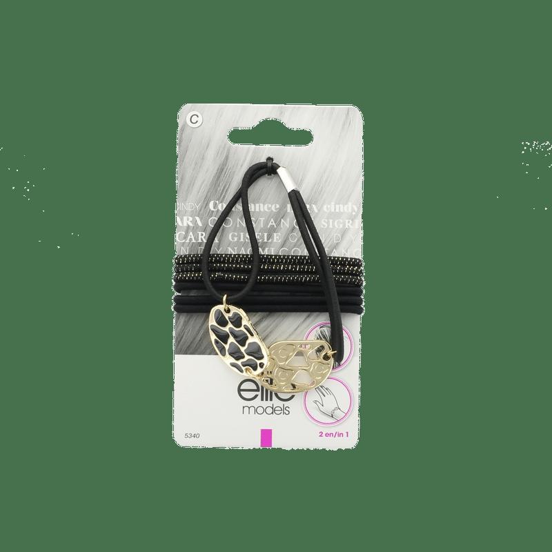 Elite Models (France) Fashion Ponytail Hair Rubber Bands (7 Pc Set) - Gold