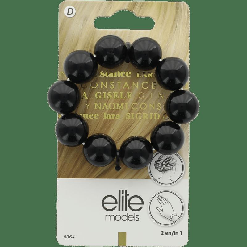 Elite Models (France) Designer Hair Jewellery Ponytail Bands - Black