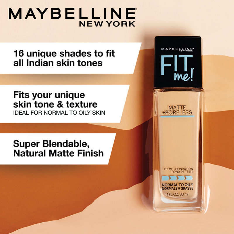 19c0f7c320ae Buy Maybelline New York Fit Me Matte + Poreless Foundation   330 Toffee at  Nykaa.com