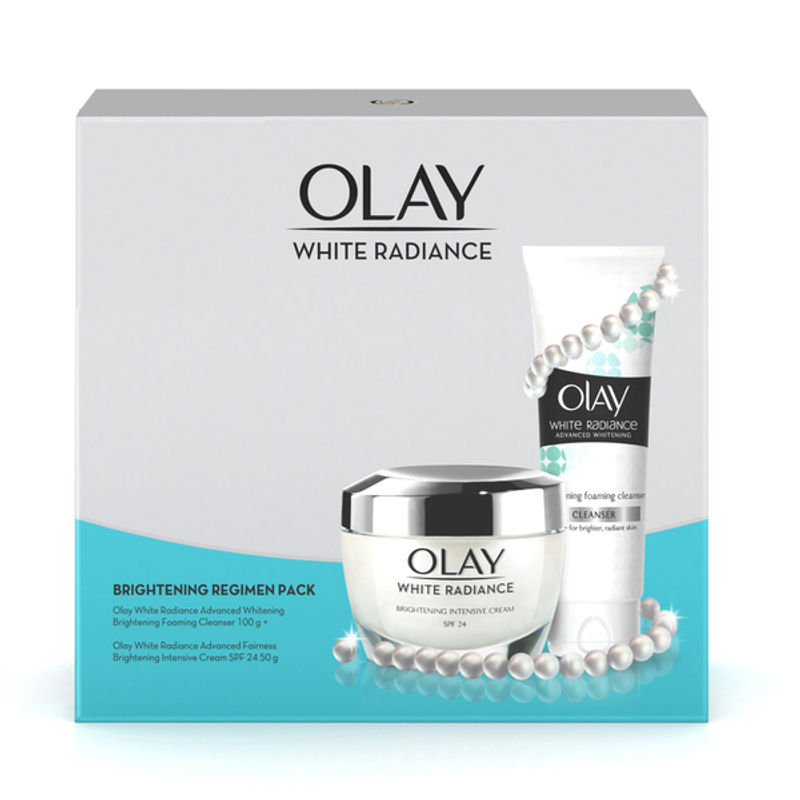 Olay White Radiance Brightening Protective Cream 50g + Foaming Cleanser 100g Combo at Nykaa.com