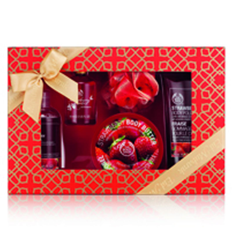 The Body Shop Strawberry Shower, Scrub And Soften Luxury Medium Gift Box