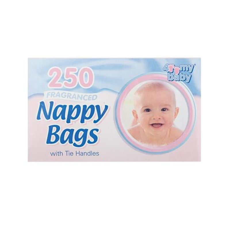 4 My Baby Fragrance Nappy Bags With Tie Handles - 250 Pcs
