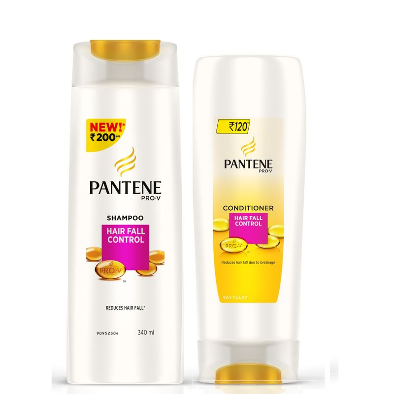 Pantene Pro-V Hair Fall Control (340ml) With Pro-V Hair Fall Control Conditioner (175ml)