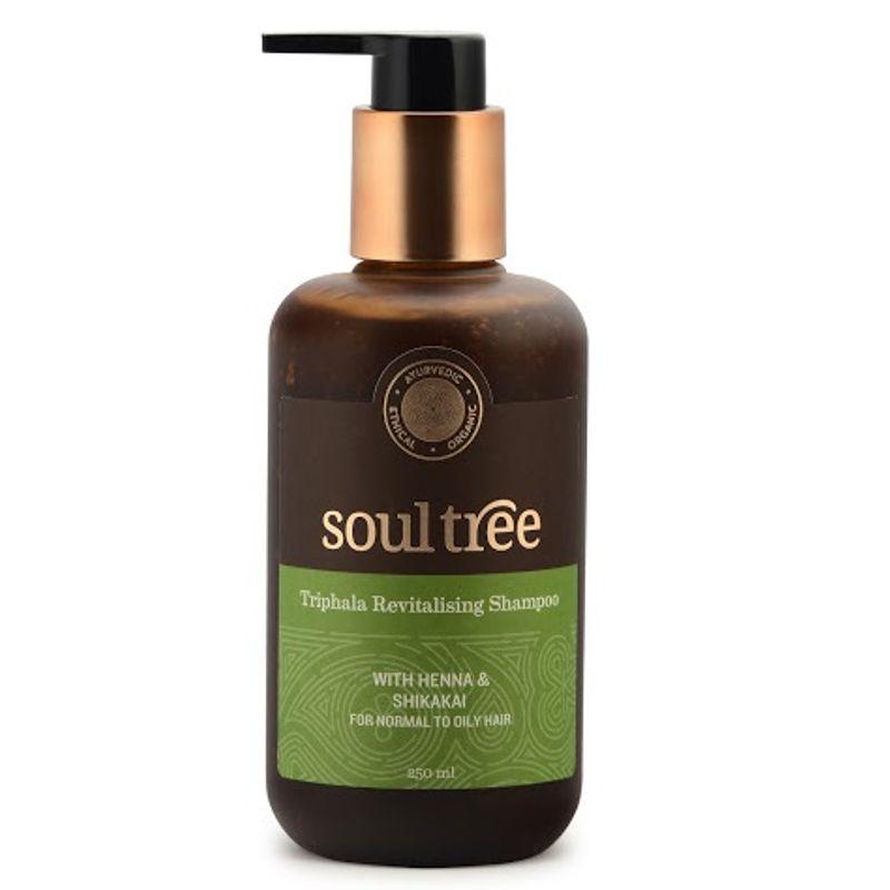 SoulTree Triphala Hair Revitalising Shampoo, With Henna And Shikakai, For Normal To Oily Hair