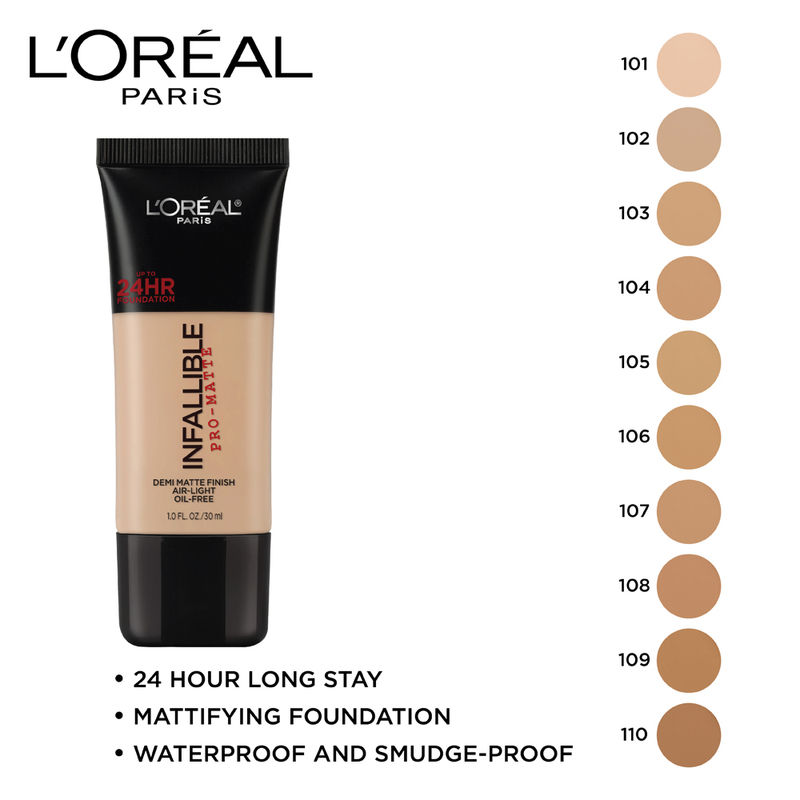 L'Oreal Paris Infallible Pro-Matte Foundation - Classic Ivory 101 at Nykaa.com