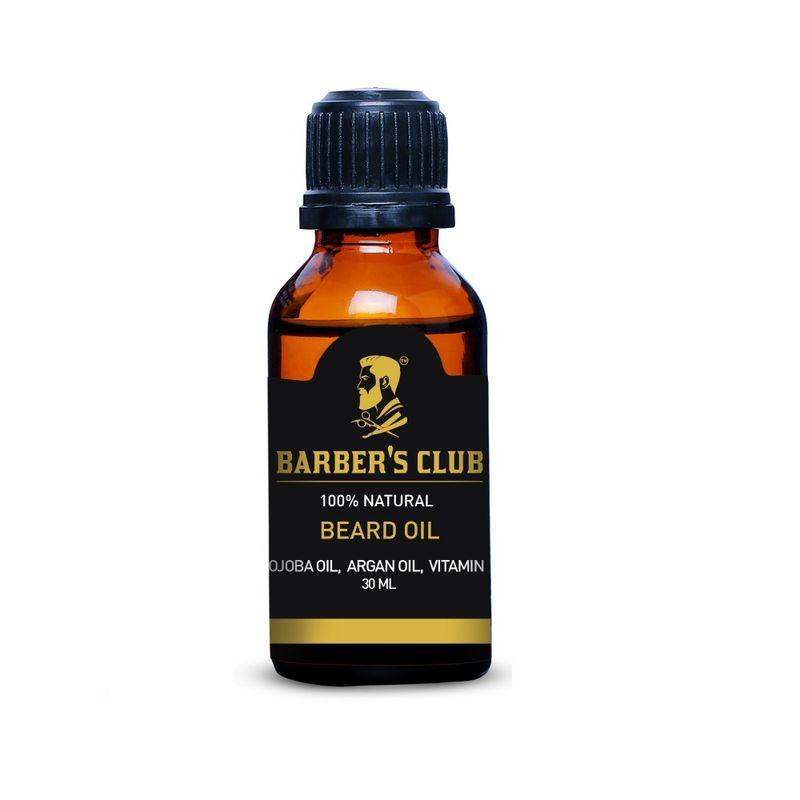 Barber's Club Beard Oil 100% Organic & Natural Argan Oil, Jojoba Oil, Vitamin E