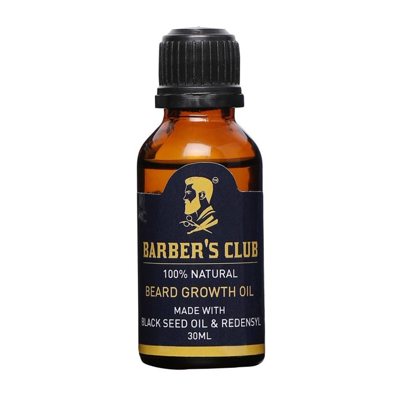 Barber's Club Beard Growth Oil With Black Seed Oil 100% Organic & Natural