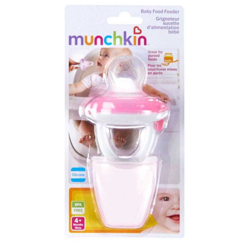 Munchkin Silicone Baby Food Feeder - Pink