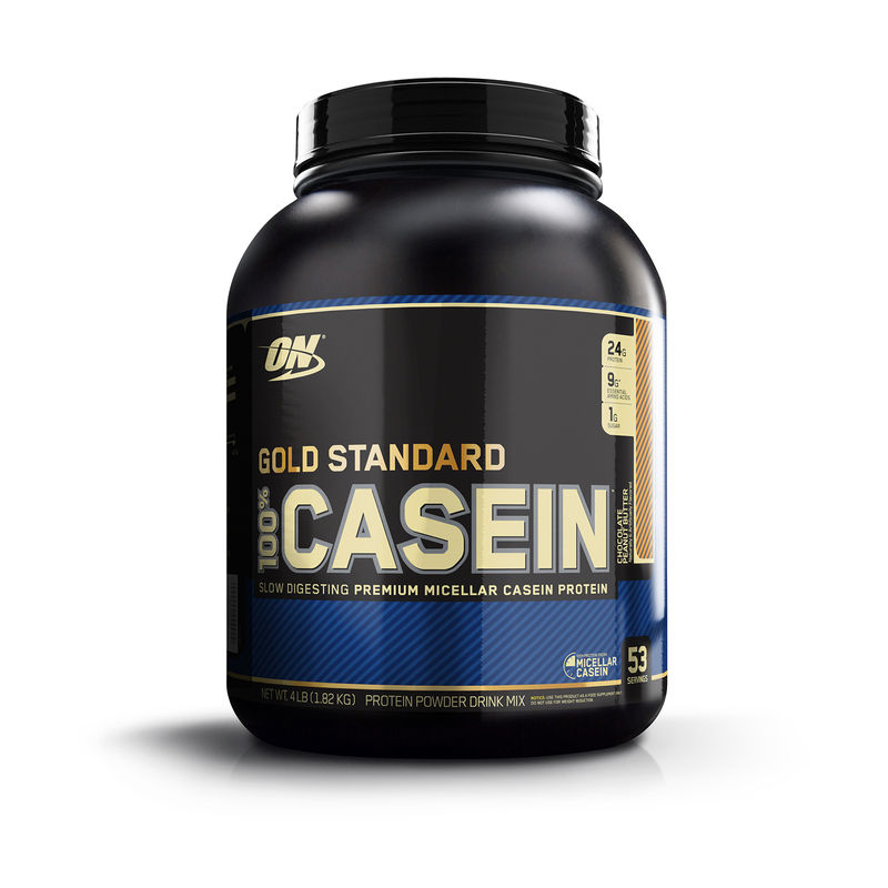 Optimum Nutrition (ON) 100% Casein Protein - 4 Lbs (Chocolate Peanut Butter)