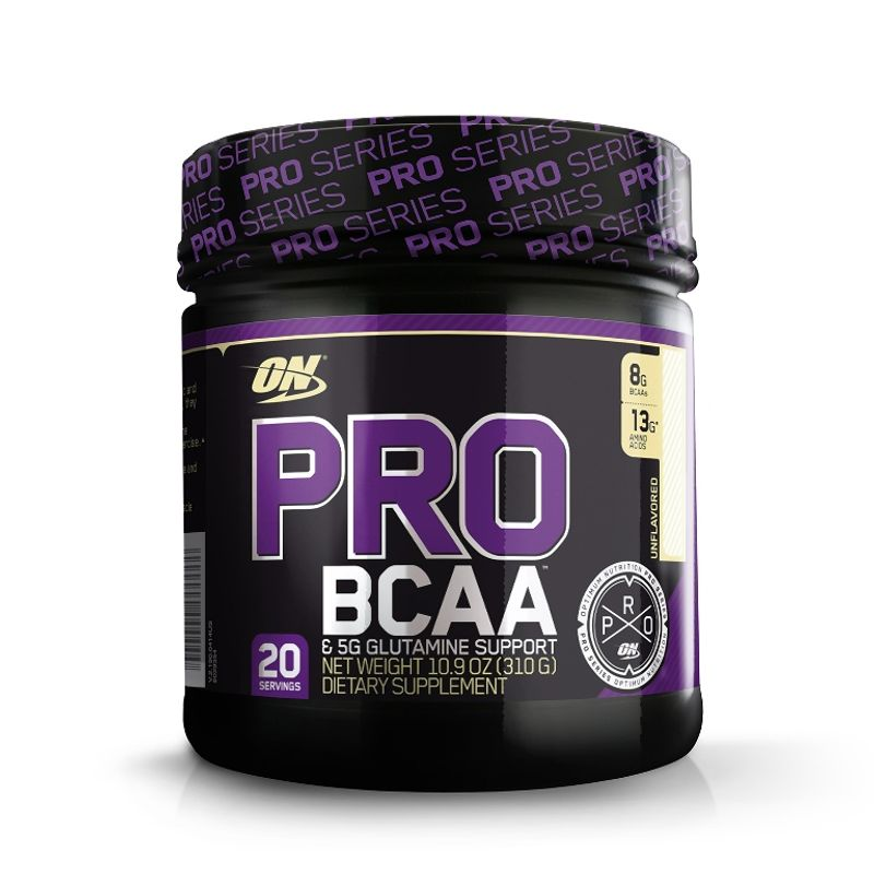 Optimum Nutrition (ON) Pro BCAA & 5G Glutamine Support Powder - 20 Servings (Unflavored)