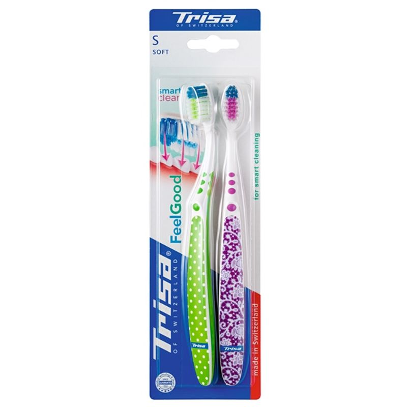 Trisa Feelgood Smart Clean Duo Soft Toothbrush